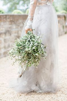 Olive leaf wedding bouquet