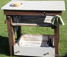 Beyond The Picket Fence: Rustic, Hobbled Together Entertainment Table/Bar