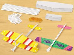 Design & Play STEAM Planes Kit - Our craft kit lets children create fast-flying gliders—for a fun-filled introduction to early STEAM concepts!