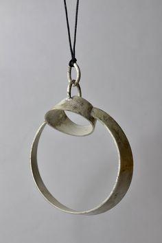 ALBERTO DÁVILA-MEXICO - rough sterling silver pendant - Mexico