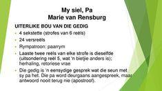 My siel, Pa Marie van Rensburg Afrikaans, Van, Classroom, Creative, Vans, Afrikaans Language