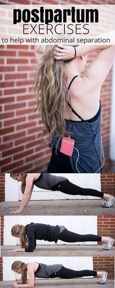 this post partum workout will help shrink your belly and strengthen your core, especially if you\'re struggling with abdominal separation or diastasis recti. tells you which ab exercises to avoid and which ones to embrace to bring your abs back together after baby