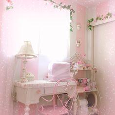 Cute Room Ideas, Cute Room Decor, Pastel Room, Pink Room, Room Ideas Bedroom, Bedroom Decor, Fairy Room, Kawaii Bedroom, Princess Room