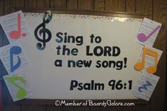 Church Bulletin Board Ideas - Bing Images For spring add Birds singing in a tree Religious Bulletin Boards, Bible Bulletin Boards, Christian Bulletin Boards, Classroom Bulletin Boards, Christian Classroom, Music Classroom, Classroom Themes, Sunday School Rooms, Sunday School Classroom