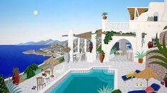 """Thomas McKnight """"Sunset Hill - Mykonos"""": levkonoe"""
