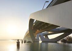 Sheikh Zayed Bridge by Zaha Hadid photographed by Hufton+Crow