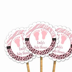 Jungle Pink Scalloped Baby Shower Cupcake Toppers Decorations - Baby Feet Safari Cupcake Decorations Printable Girl Baby Shower Decorations - http://babyshowercupcake-toppers.com/jungle-pink-scalloped-baby-shower-cupcake-toppers-decorations-baby-feet-safari-cupcake-decorations-printable-girl-baby-shower-decorations/