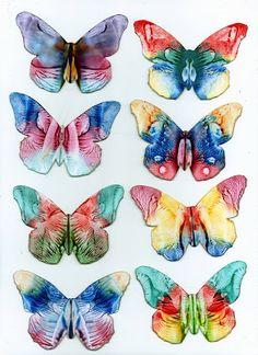 some of my encaustic art butterflies