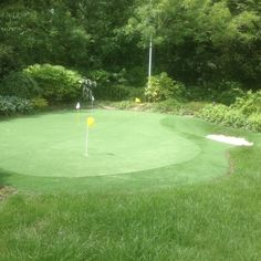 Artificial Grass Putting Green and Bunker built in 2004 Bunker, Lawn, Grass, Golf Courses, Gallery, Building, Buildings, Fuel Oil, Grasses