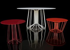 tables armature filaire, Arik Levy, Small wire
