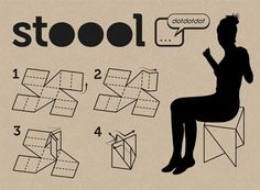 STOOOL_April, 2011 Product designOrigami stool for 'Seduta di Quartiere' event Via Cadolini
