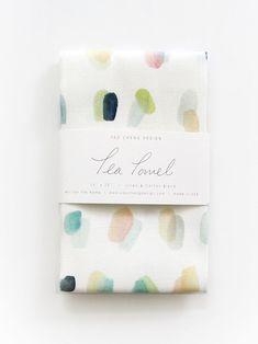 Spots Overlay Tea Towel