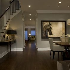 Most Popular Beige Paint Color Traditional Dining Room with Ceiling Recess Lighting in Chicago