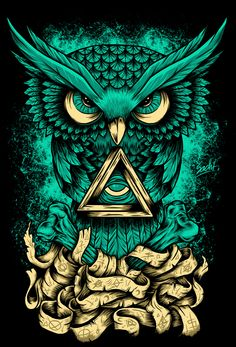 Diamond Painting Magic Owl Kit is part of Owl artwork - You too can be an artist when you paint with Diamonds! Every kit gives you a chance to create a work of art you can be proud of This diamond painting kit Art And Illustration, Illustrations, Psychedelic Art, Illuminati Drawing, Illuminati Tattoo, Owl Artwork, Owl Wallpaper, Graffiti Wallpaper, Art History