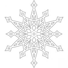 Snowflake coloring page for older kids