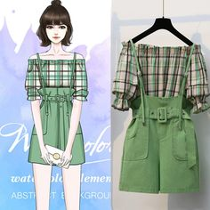 Kpop Fashion Outfits, Girls Fashion Clothes, Cute Fashion, Look Fashion, Korean Outfits, Korean Fashion, Girl Fashion, Teen Clothing, Fashion Drawing Dresses