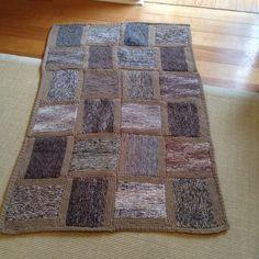 Knitted rug, afghan, blanket, throw