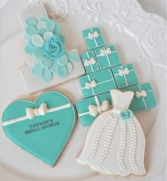 Galletas Boda ♥Julia M. Usher♥ http://cookieconnection.juliausher.com/clip/tiffany-collection