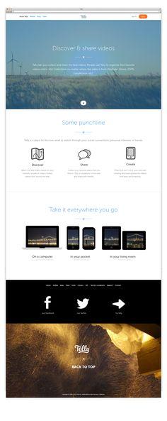 Telly - web design