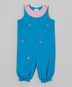 Take a look at this Blue Cupcakes Bubble Playsuit - Infant & Toddler by K&L on #zulily today!