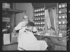 Barbershop. Hagerstown, Maryland by Arthur Rothstein, 1937