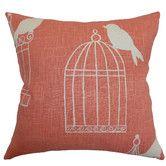 Found it at Wayfair - <strong>The Pillow Collection</strong> Alconbury Birds Linen Pillow