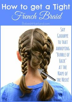 How to get a Tight French Braid If you struggle with getting a tight or tidy French braid, come watch our video. We're sharing a few pointers to help you improve your French braiding skills and achieve a nice tight French braid! Braiding Your Own Hair, How To Braid Hair, How To Braid Your Own Hair Short, Cut Your Own Hair, Short Hair Braids Tutorial, Natural Hair Styles, Short Hair Styles, Looks Cool, Hair Hacks