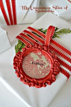 DIY Painted Gift Tags Using Mini Picture Frames