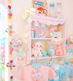 Pastel Baby Room! So Fairy Kei! www.CuteVintageToys.com  Hundreds Of Kawaii Vintage Toys From The 80s & 90s! Follow Me & Use The Coupon Code PINTEREST For 10% Off Your ENTIRE Order!  Dozens of G1 My Little Ponies, Polly Pockets, Popples, Strawberry Shortcake, Care Bears, Rainbow Brite, Moondreamers, Keypers, Disney, Fisher Price, MOTU, She-Ra Cabbage Patch Kids, Dolls, Blues Clus, Barney, Teletubbies, ET, Barbie, Sanrio, Muppets, Sesame Street, & Fairy Kei Cuteness!