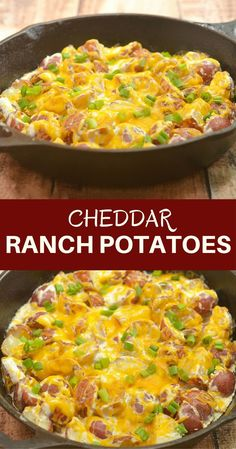 Recipes - Cheddar Ranch Potatoes - Apocalypse Now And Then Potato Sides, Potato Side Dishes, Rose Potato, Instant Pot, Creamed Potatoes, Cheesy Ranch Potatoes, Cheddar Potatoes, Recipe For Cheesy Potatoes, Baked Potatoes