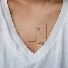 Golden Ratio tattoo for designers