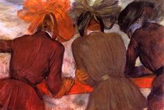 Women Leaning On A Railing ~ by Edgar Degas  (French, Post-Impressionism, 1834–1917) http://alongtimealone.tumblr.com/post/29898363567/women-leaning-on-a-railing-edgar-degas-by