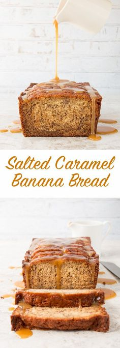 The flavor of salted caramel infused into a soft and moist banana bread, then drizzled with extra salted caramel sauce on top. It's banana bread heaven with a sweet sticky indulgence.