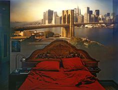 Camera Obscura: View of the Brooklyn Bridge in Bedroom, 2009  Abelardo Morell