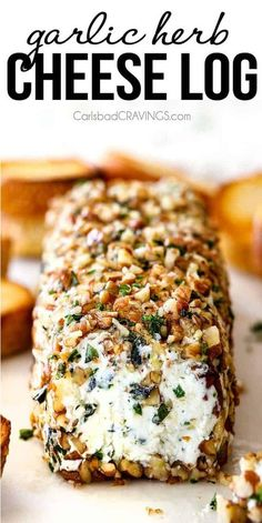 Garlic Herb Cheese Log 10 Minute prep creamy, savory Garlic Herb Goat Cheese Log is the EASIEST yet most impressive appetizer you will ever make! It can be made in advance so it's the perfect appetizer for all your special occasions and parties! Appetizers For A Crowd, Appetizer Dips, Yummy Appetizers, Appetizer Recipes, Goat Cheese Appetizers, Appetizers For Thanksgiving, Christmas Appetizers, Popular Appetizers, Appetizer Party