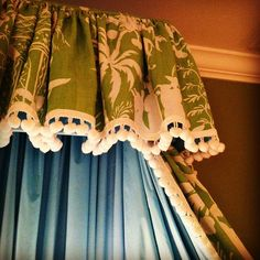 Quadrille canopy and bed hangings...beautiful little girls room!!