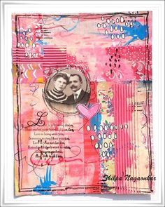 Neon Diary: Collage Journal page