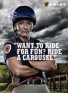 -regardless of how serious you are about riding, you should always do it because you love it and find it enjoyable...