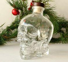 Skull Head Clear Glass EMPTY Vodka Bottle #CrystalHead