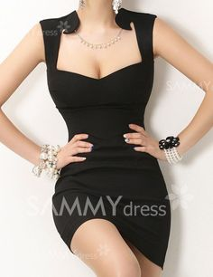 VEGAS DRESS $9.83 Sexy Style Sleeveless Solid Color Packet Buttock Slimming Dress For Women