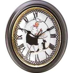 Features roman numerals and baker design. Requires 1 AA battery (not included). Measures x 10 x 1 Tick Tock Clock, Kitchen Wall Clocks, Kitchen Decor, Chef Kitchen, Roman Numerals, The Ordinary, Home Goods, Wall Decor, Shapes