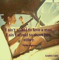 I ain't...