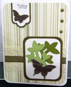 butterfly card from Stampin' Up! swap