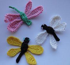 СТРЕКОЗА Вязание крючком DRAGONFLY Crochet - YouTube