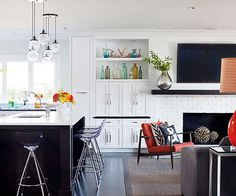 If you have an open floor plan in your home then you'll love these ideas for more storage. See how you can easily create more storage that looks great. Get inspired to try one of these storage ideas in your home for a clean and elegant look.