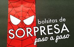 Bolsa de papel fácil de Spiderman - http://xn--manualidadesparacumpleaos-voc.com/bolsa-de-papel-facil-de-spiderman/