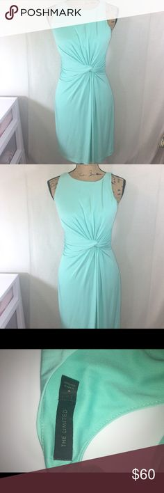 The Limited Mint Dress-M A beautiful dress from The Limited in a size M. The eye catching mint color and side knot make it flattering for anyone and is a great choice for any occasion! The Limited Dresses Midi