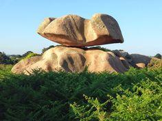 Balancing rocks along the Ploumanac'h coastal run in Brittany.