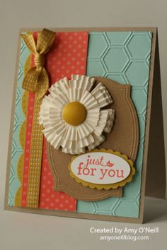muffin wrapper flower card