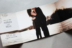 Trifold photo save the date - creative idea